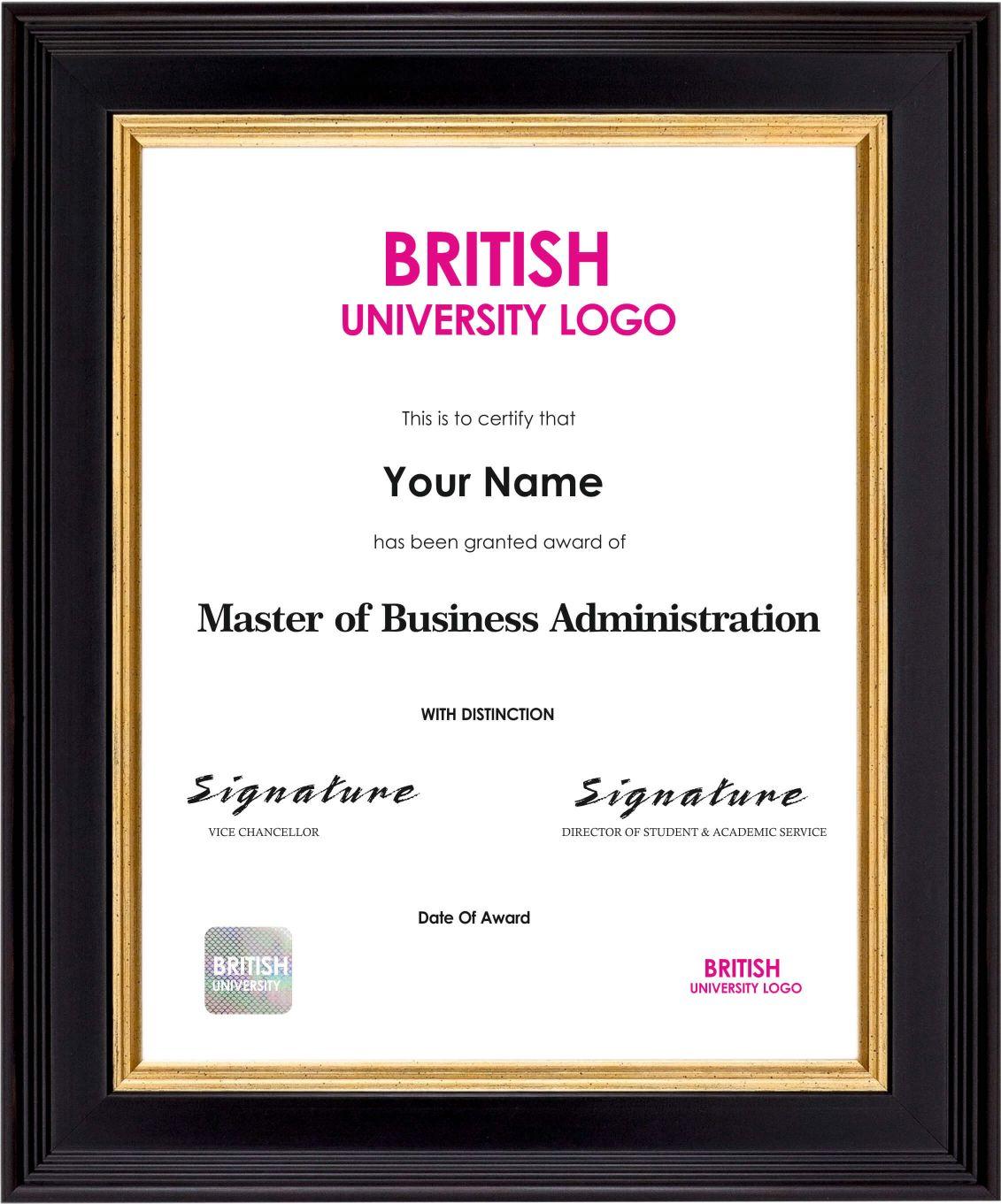 Masters Degree Sample Certificate